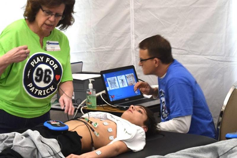 Most professional athletes participate in cardiovascular screening to identify often-asymptomatic heart disorders, but the debate continues on whether to mandate ECGs as part of pre-participation screening for student athletes. Photo courtesy of Play for Patrick.