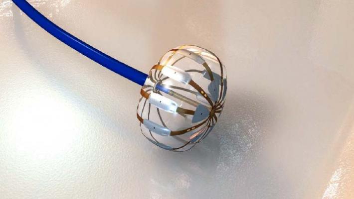 Boston Scientific's Apama multi-electrode ablation balloon to treat atrial fibrillation.