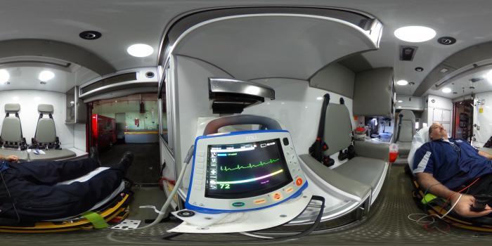 Zoll X Series defibrillator-monitor in a Detroit Fire Department ambulance.