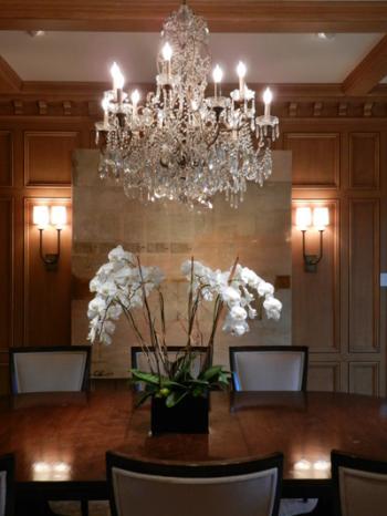 Dining room chandelier recessed lighting