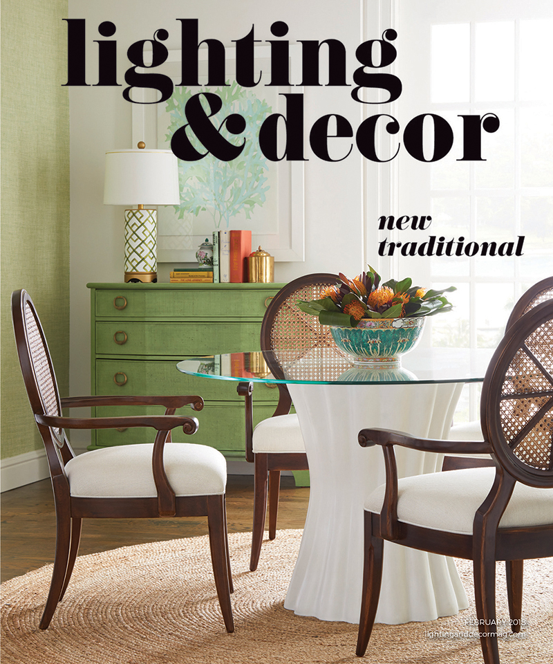 Cover image of Lighting & Decor featuring a dining room table and chairs