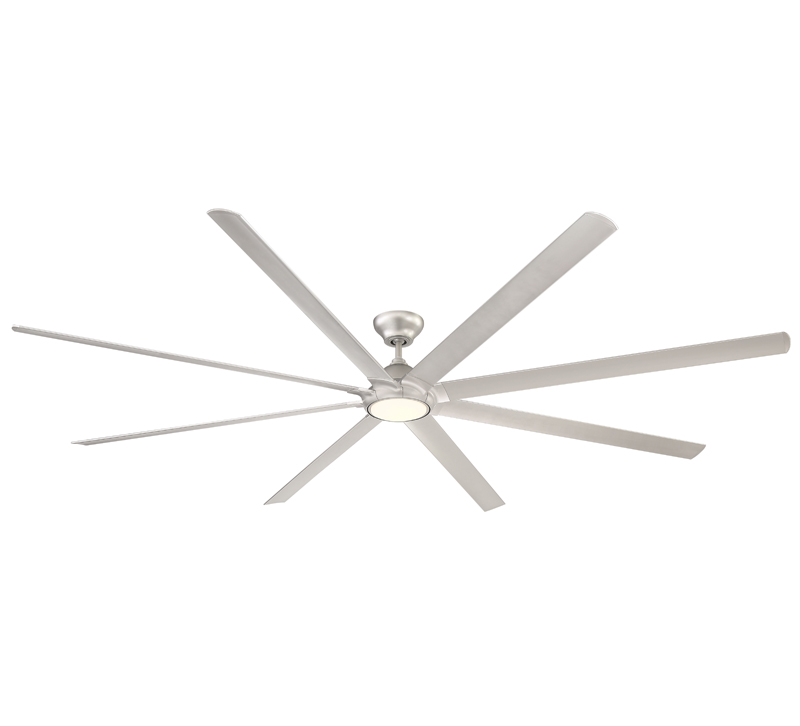 Hydra Smart Fan with eight blades, an LED light kit and a silver finish from Modern Forms