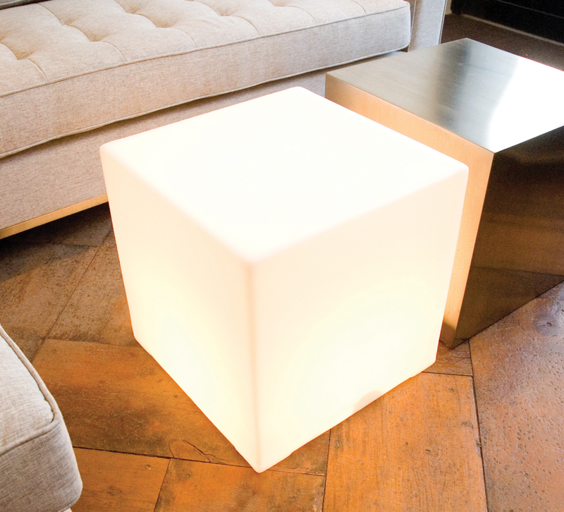 Light Box cube ottoman from Gus Modern