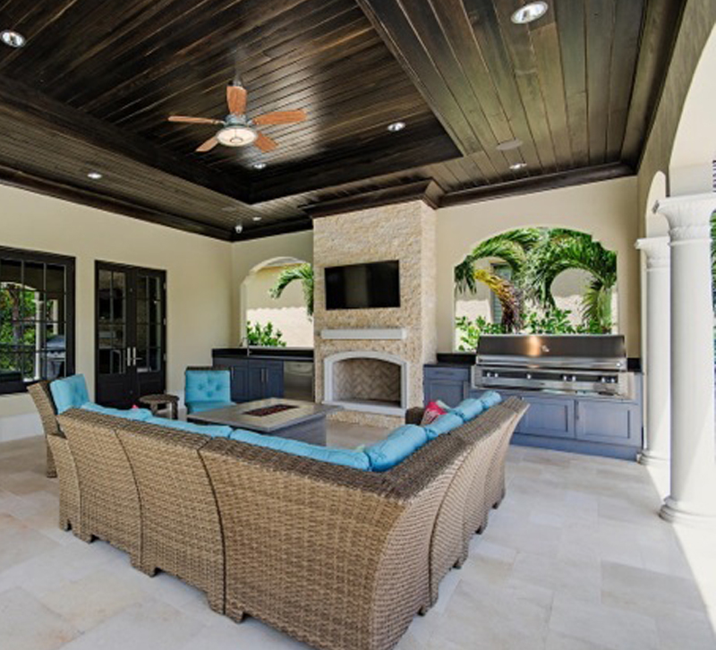 In The Outdoor Kitchen With Tres Jolie Maison Furniture