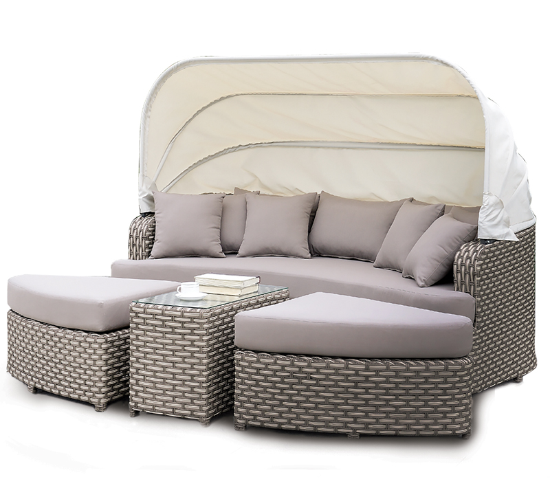 Furniture of America gray outdoor sofa with cover