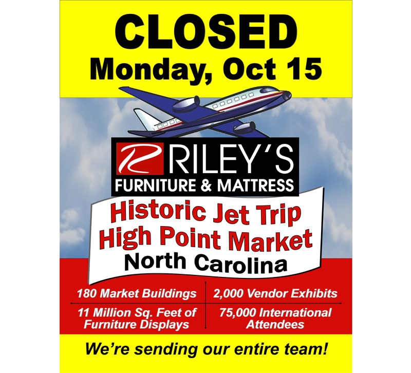 Riley S Furniture Mattress To Fly Whole Staff To Fall High Point
