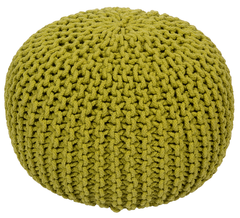 Malmo Pouf in Lime Green from Surya