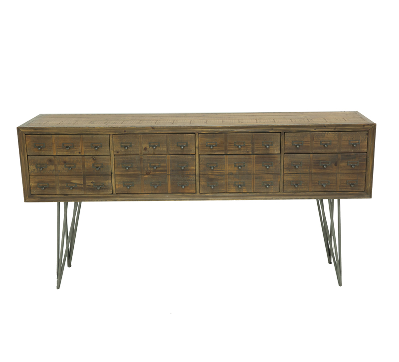 Javadi Sideboard with 36 small drawers on four hairpin legs from Moe's Home Collection