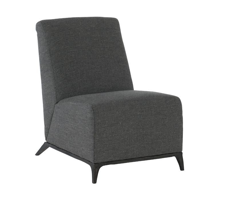Austin Armless Chair in dark gray from Bernhardt