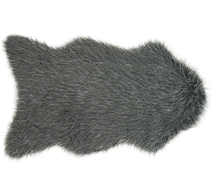 Rory charcoal gray shag area rug from Loloi Rugs