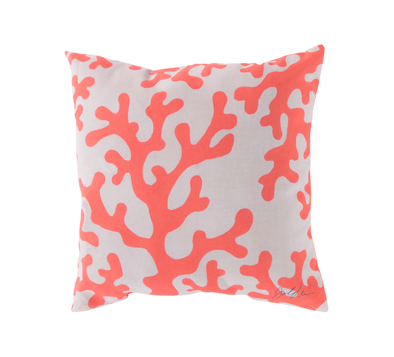 Surya pillow living coral