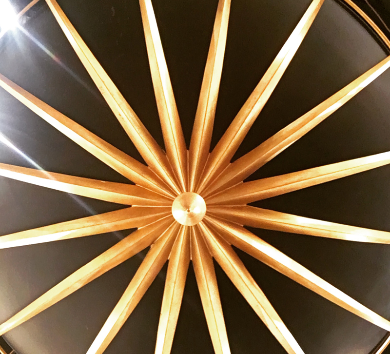 Art Deco-inspired chandelier from Currey & Co