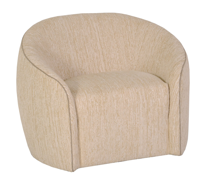 Rondo Club Chair in a beige fabric with a rounded back from Norwalk Furniture