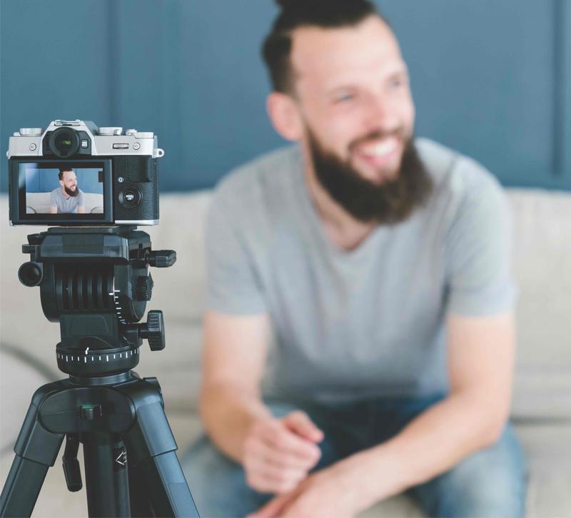 Adobestock man filming video