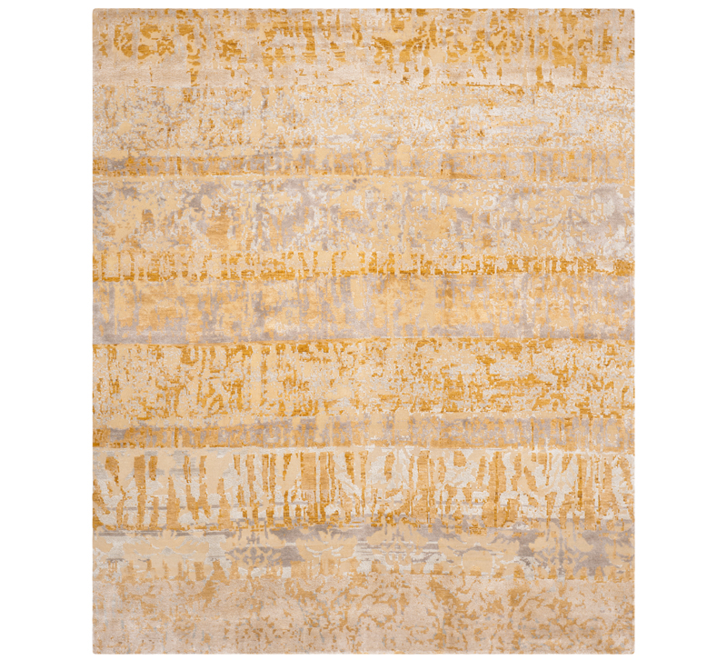 Centennial gold and beige abstract area rug from Safavieh