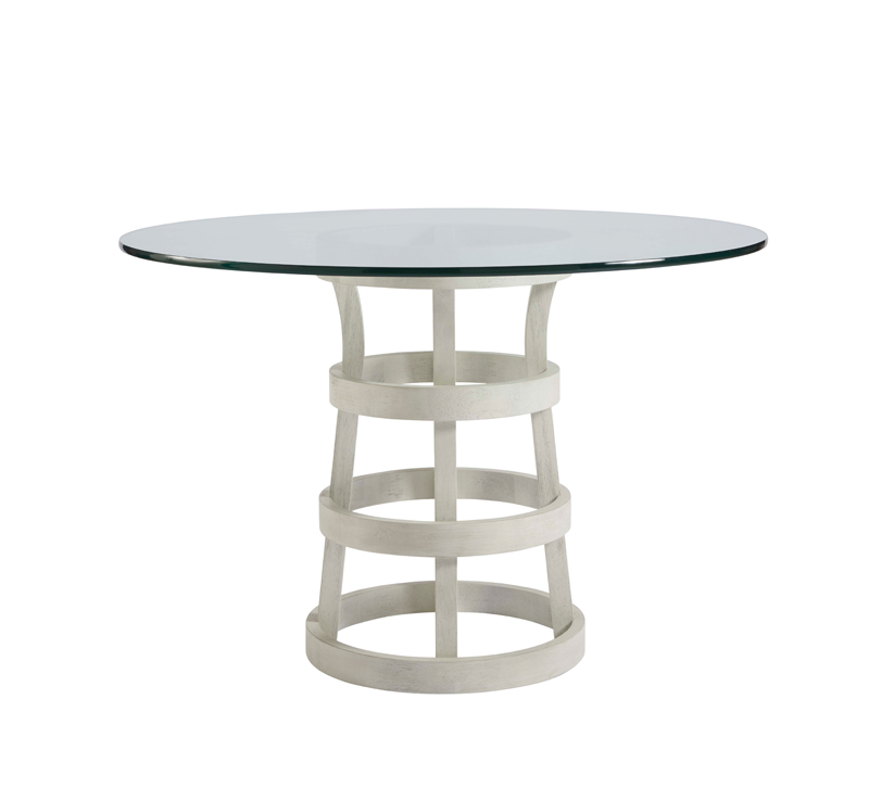 Escape round Dining Table with open base from Universal Furniture