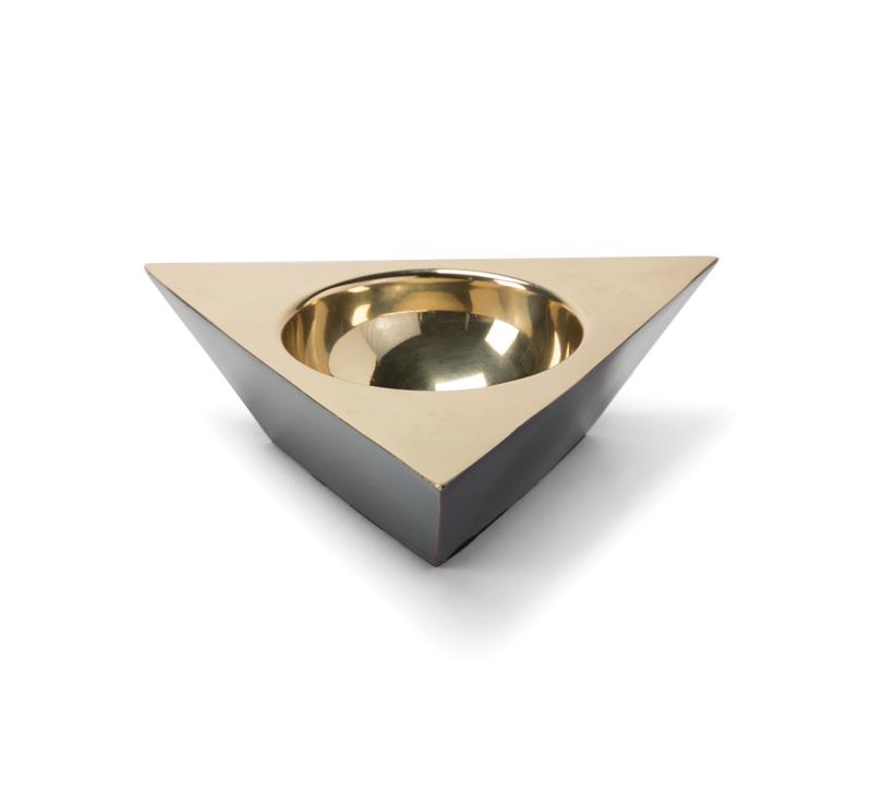Regina Andrew metal triangle dish