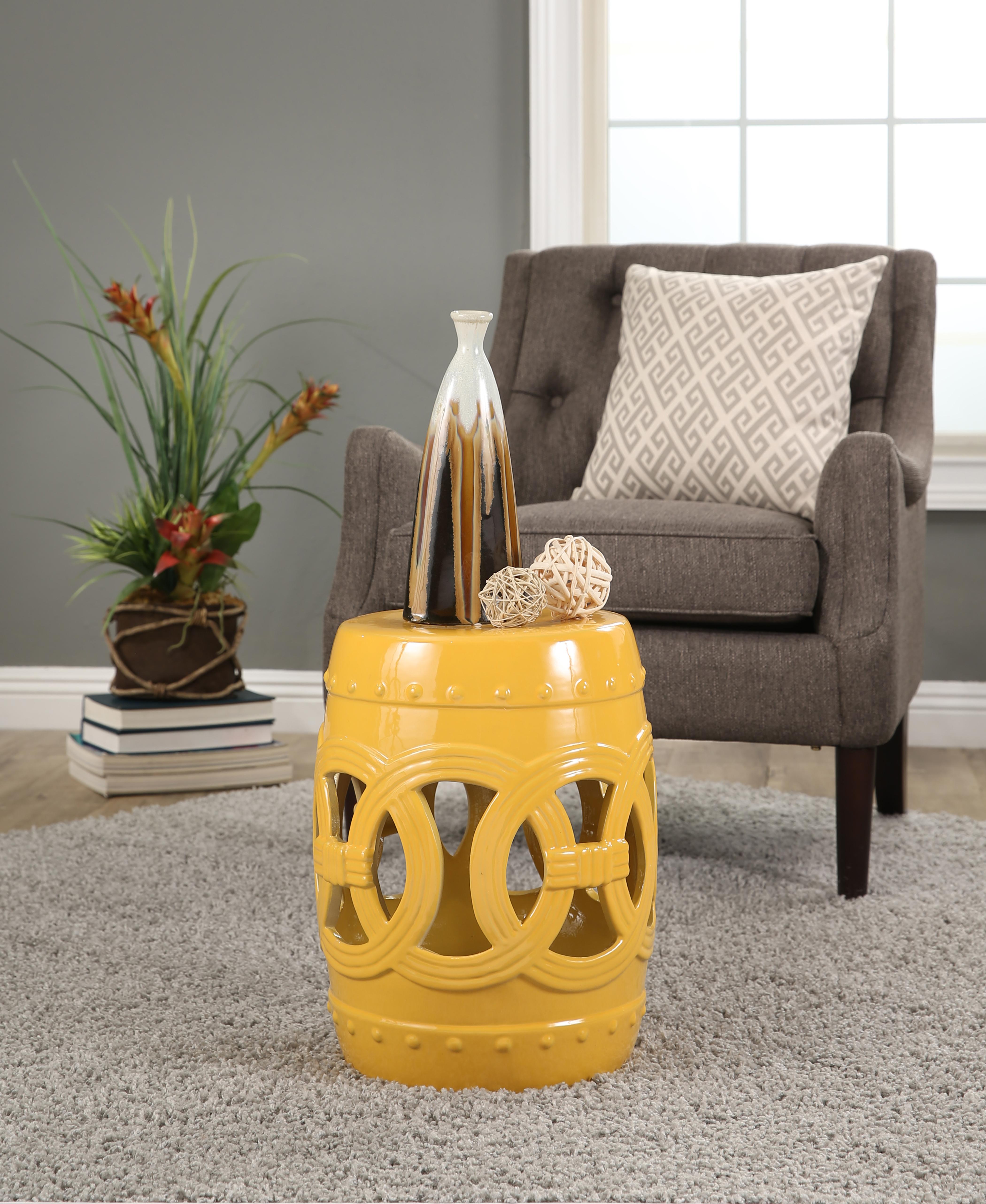 Abbyson Living ceramic garden stool