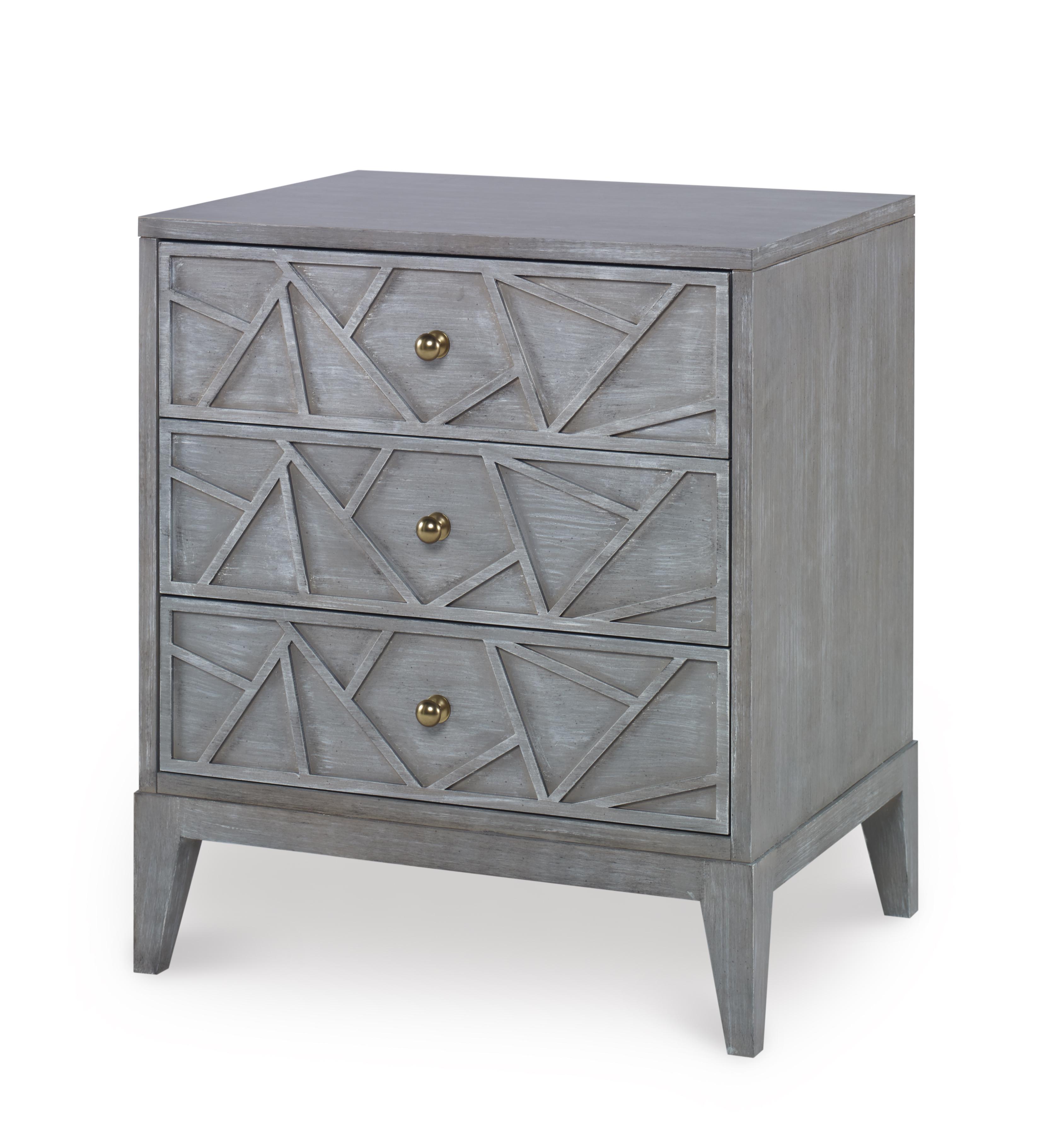 Century Furniture three drawer nightstand