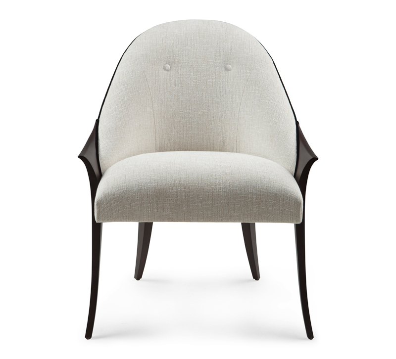 Especial rounded back upholstered chair from Christopher Guy