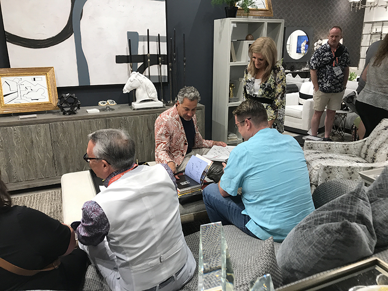 Thom Filicia from Get a Room with Carson and Thom at Vanguard showroom in Las Vegas.