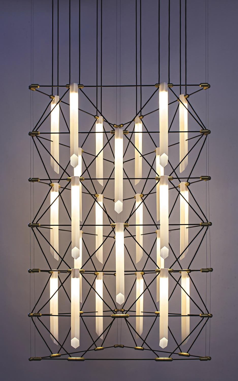 DesignHeure Mozaik Trio chandelier