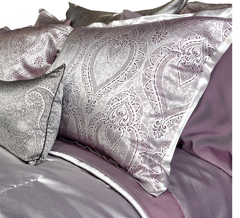 Purple and silver metallic washable bedding set from DownTown