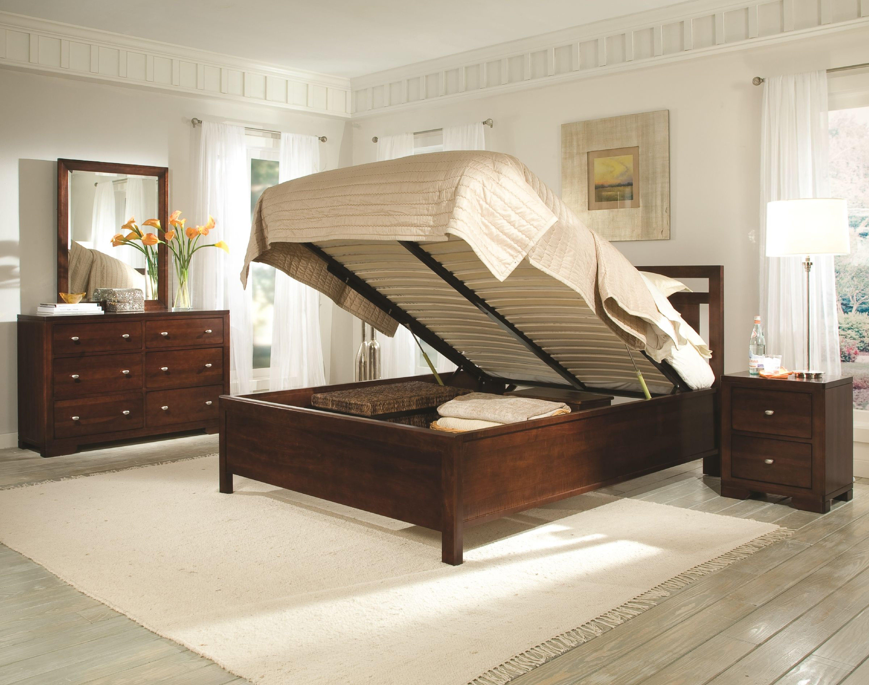 Durham Furniture Symmetry Lift storage bed