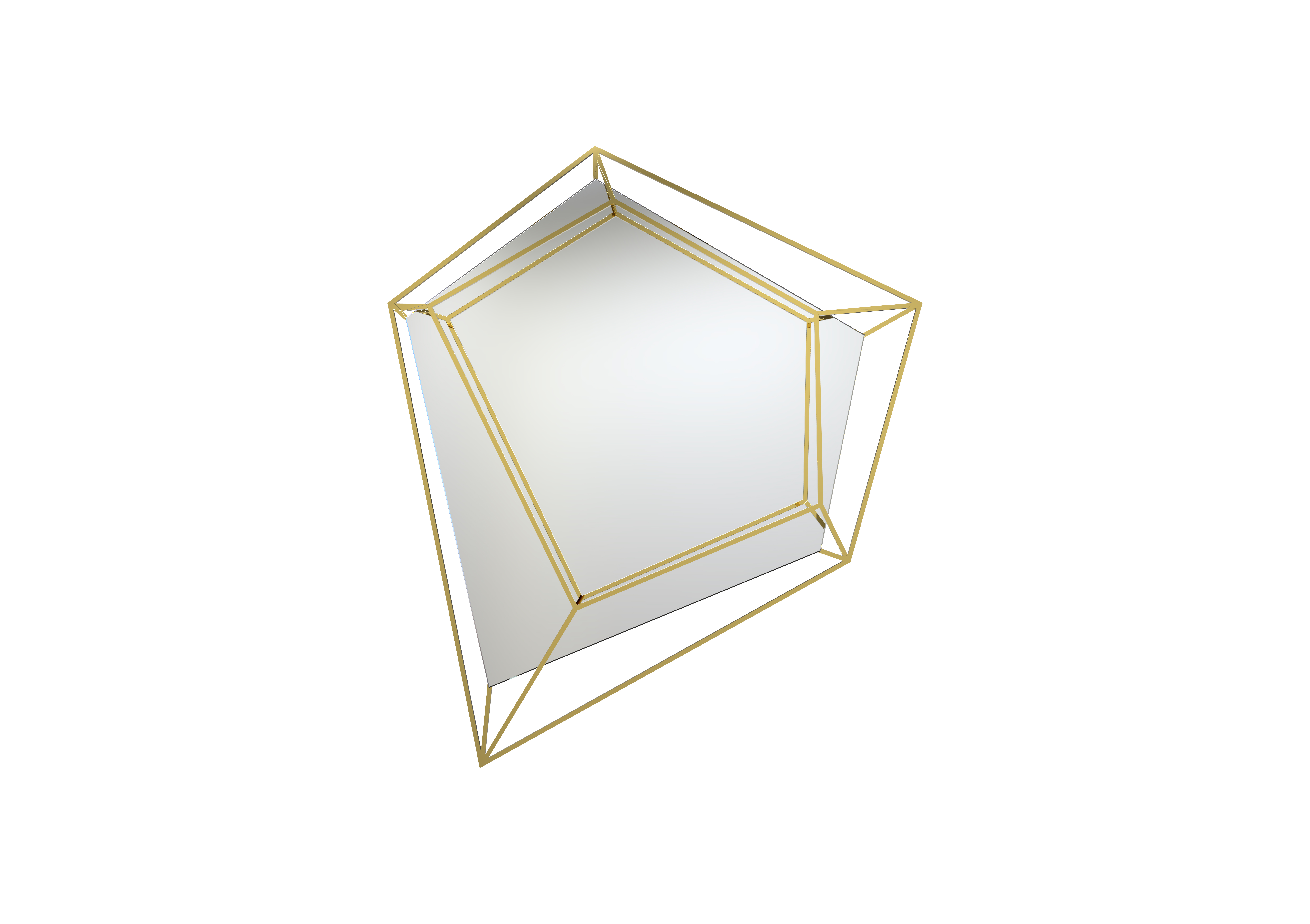 mirror with polished brass