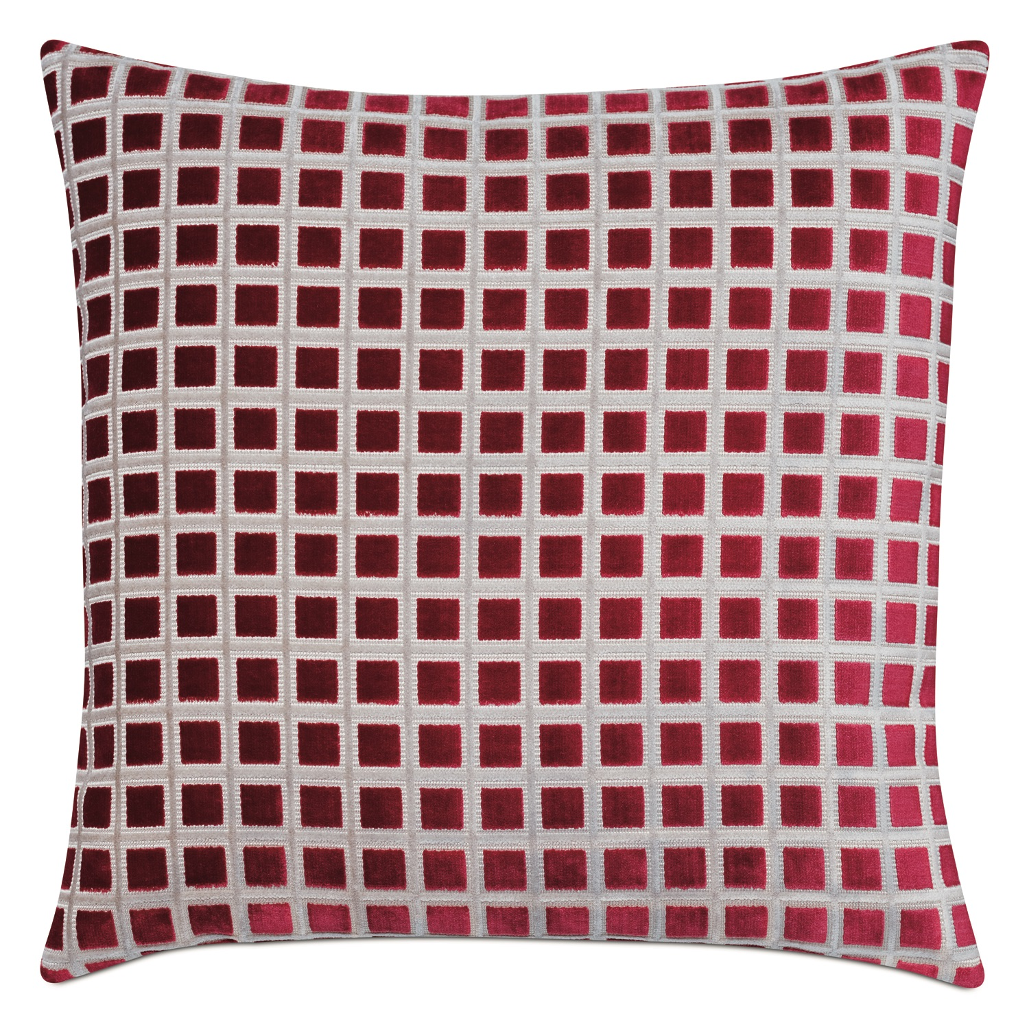 Eastern Accents Stamp Ruby pillow