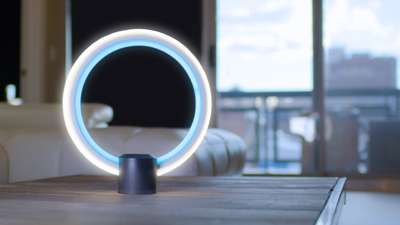C by GE circular Led Lamp with blue and white rings