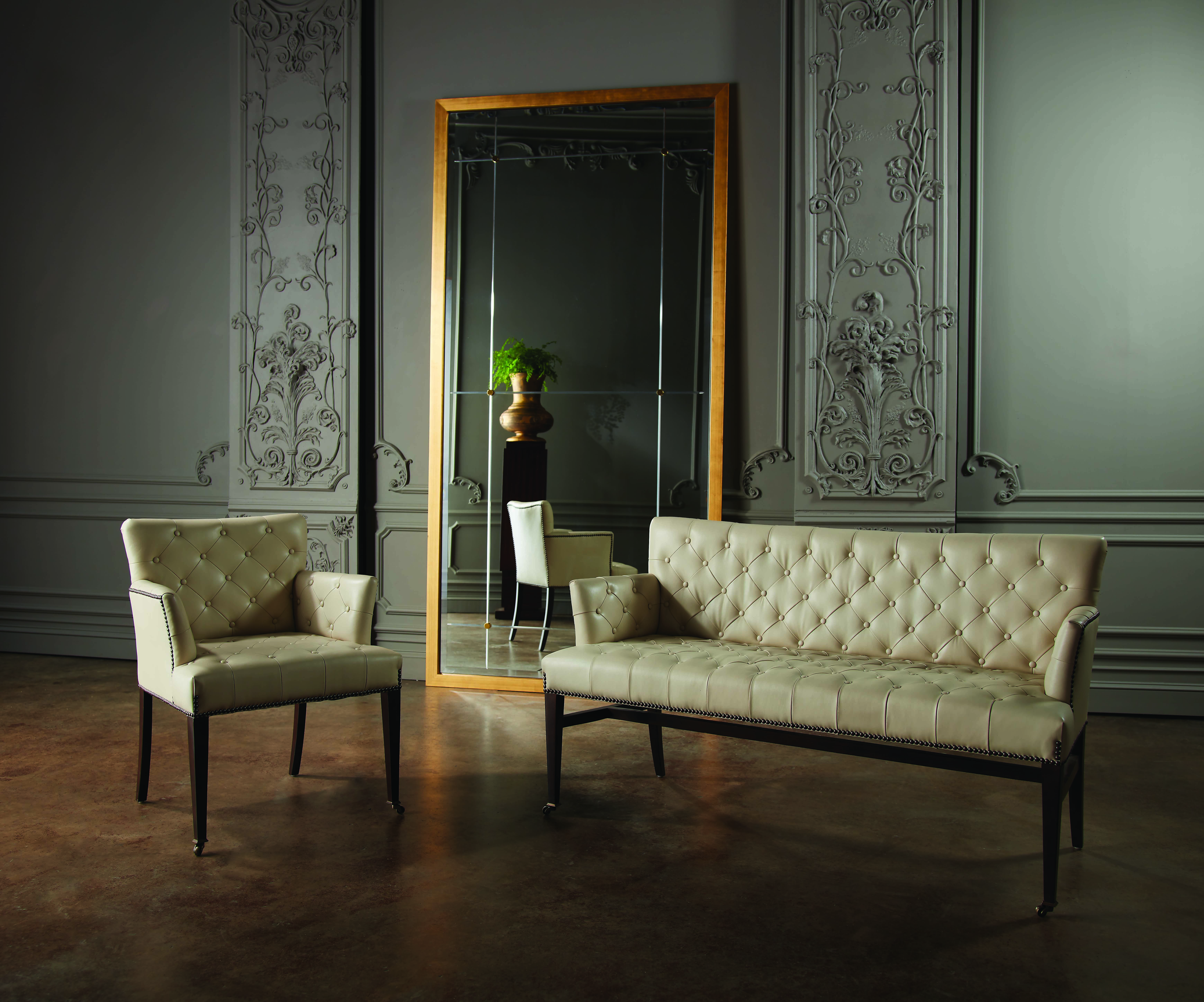 Global Views Chester loveseat chair