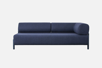 Palo sofa in blue with only one arm from Hem