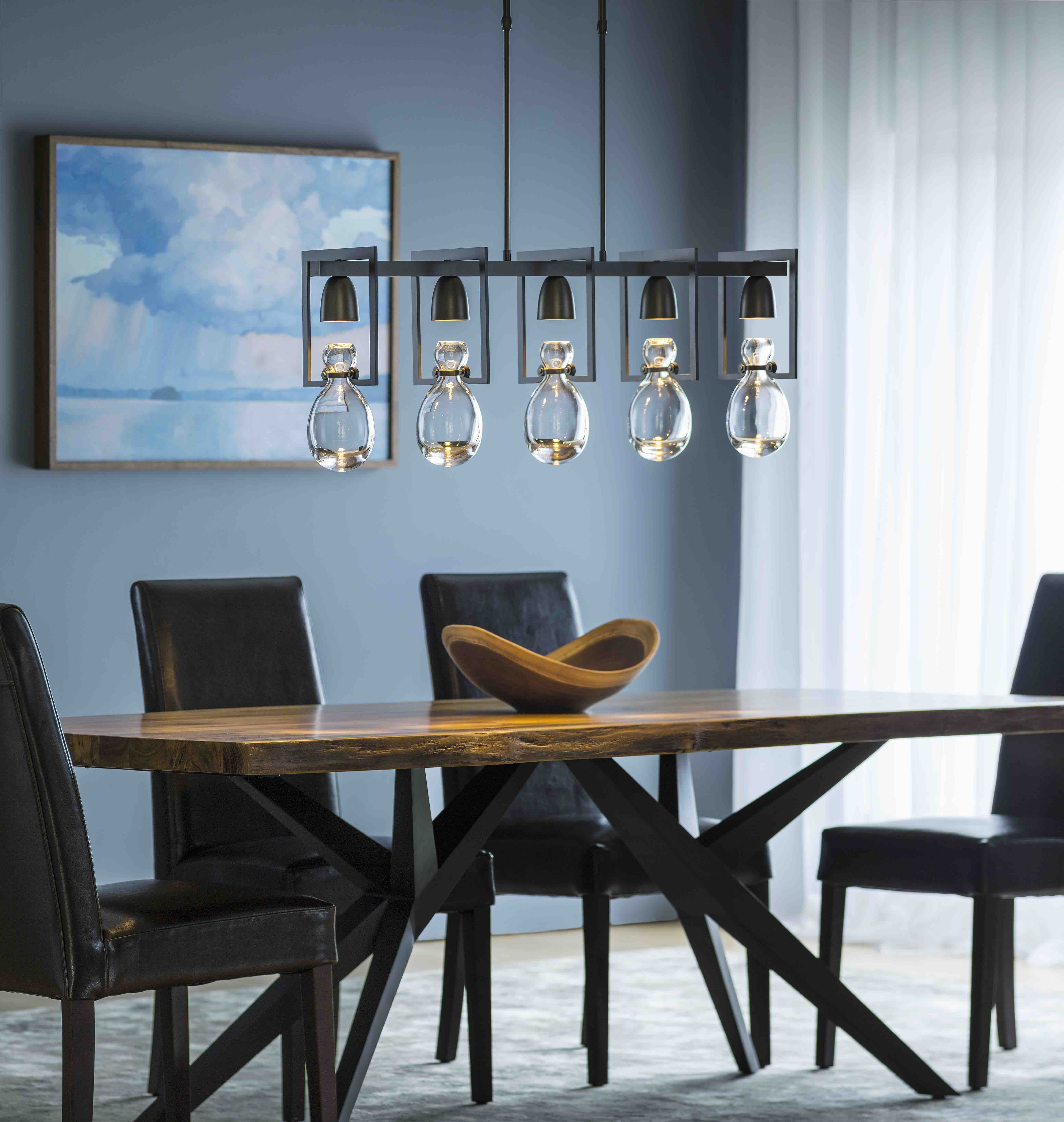 Hubbardton Forge Apothecary five light pendant