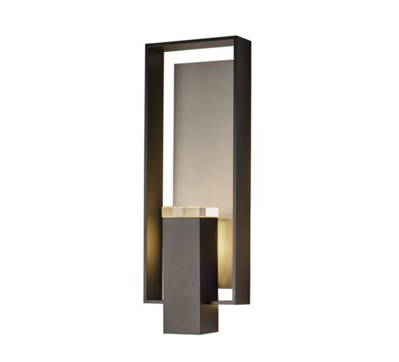Shadow Box sconce in bronze from Hubbardton Forge