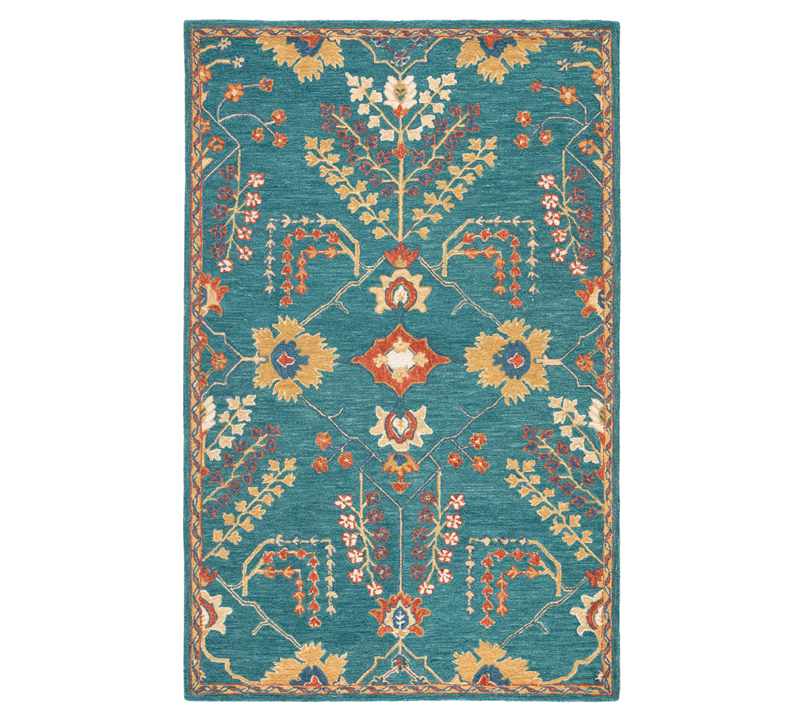 Province blue and orange area rug from Jaipur Living
