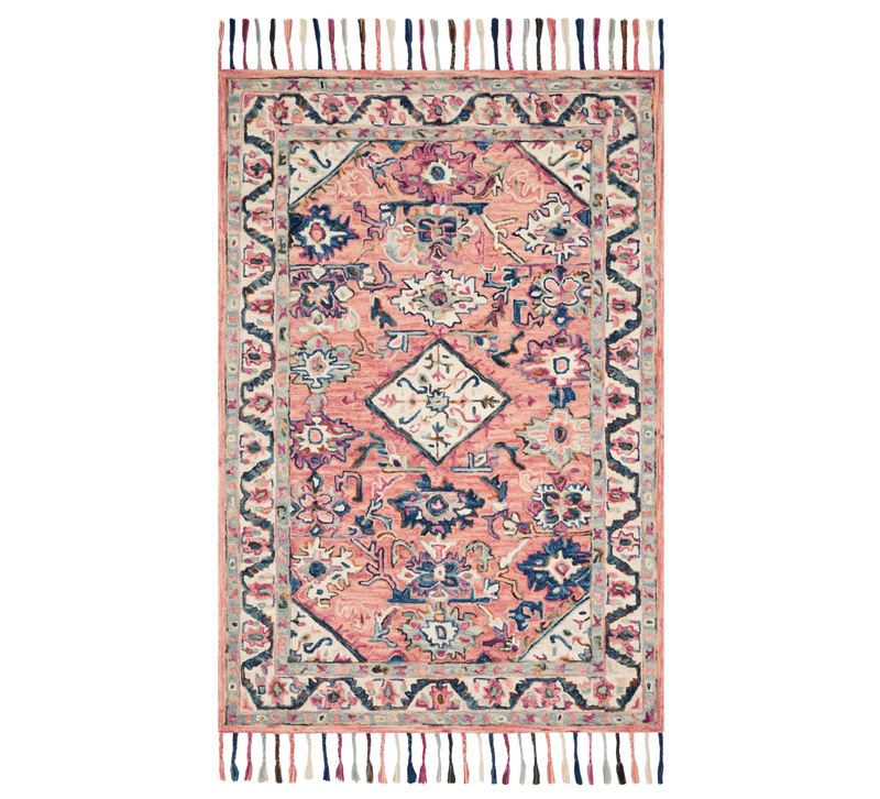 Elka rug with a medallion design and tassels from Loloi Rugs