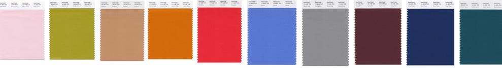 Pantone New York palette