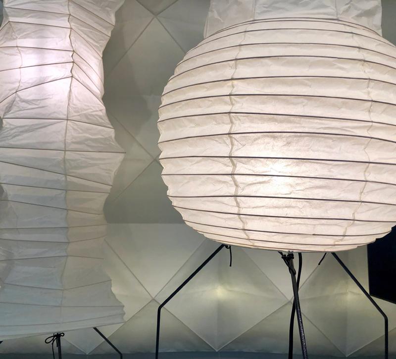 Paper round and rectangular lighting lanterns