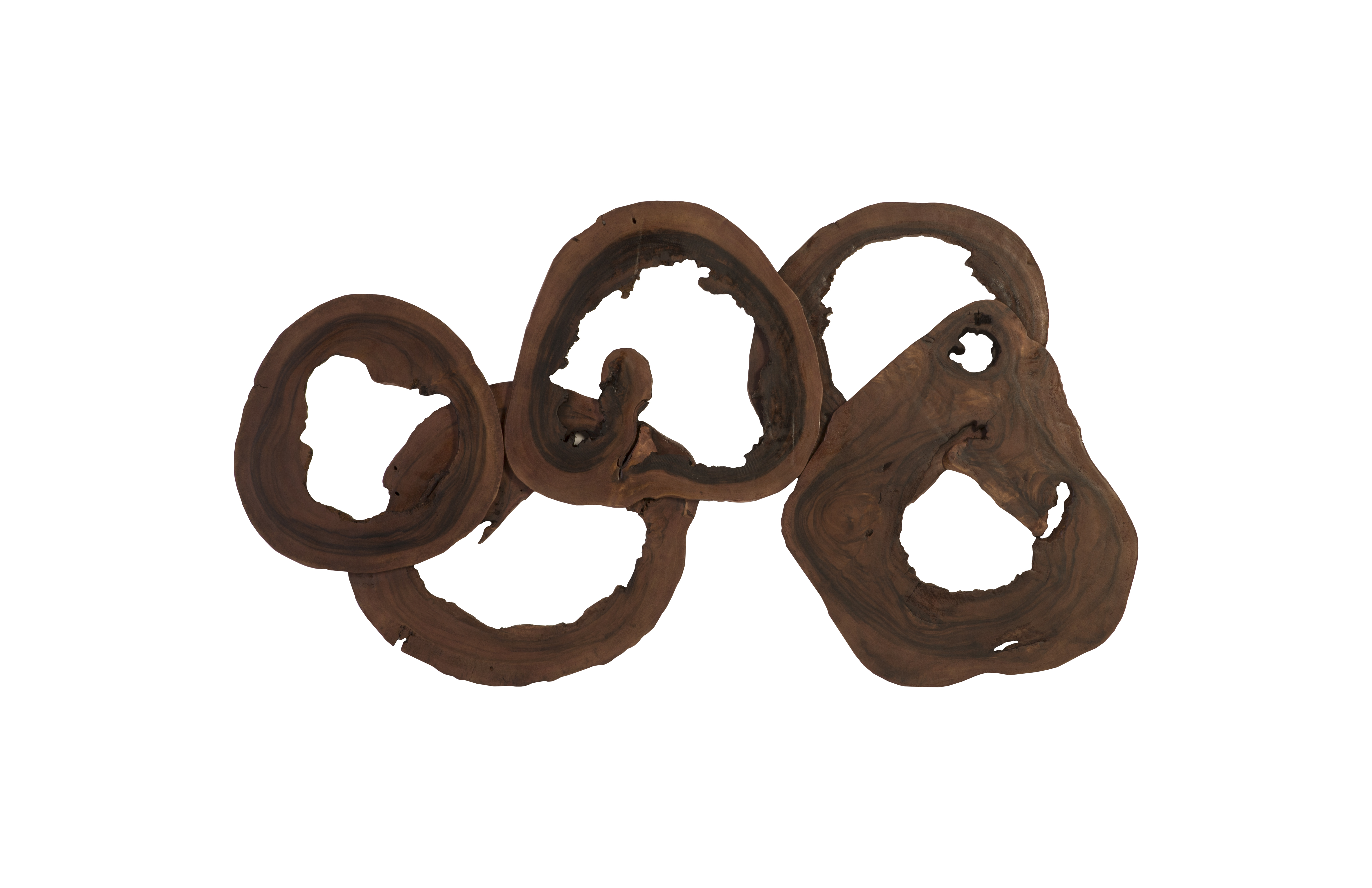 Phillips Collection Chamcha wood Olympic wall ring decor