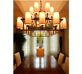 Randall Whitehead dining room chandelier placement