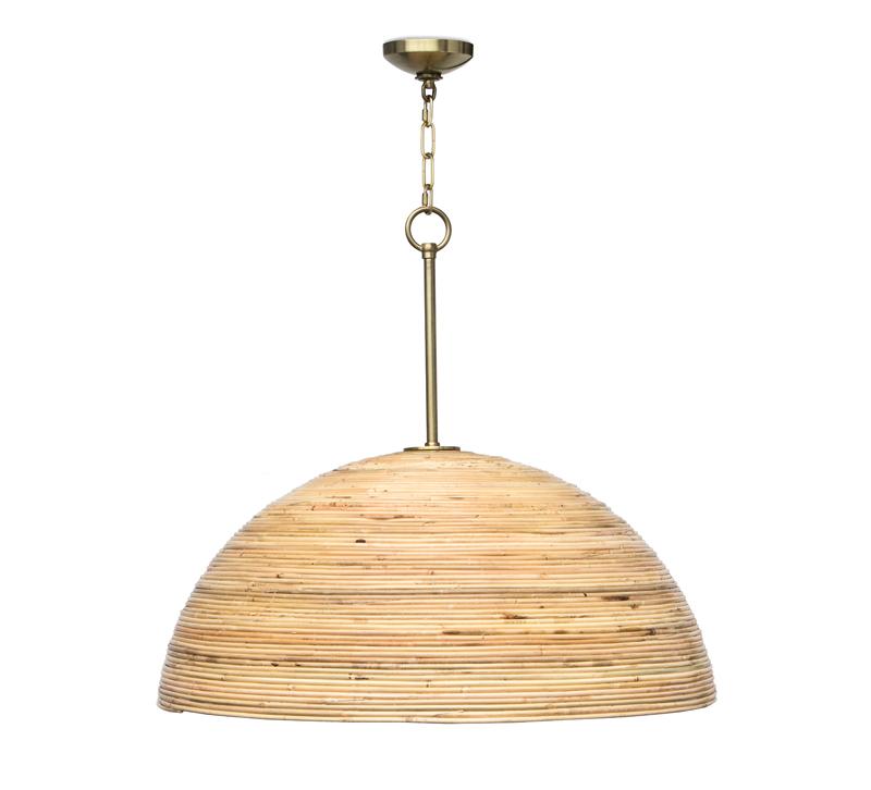 Laguna pendant with a rattan shade from Regina Andrew Design