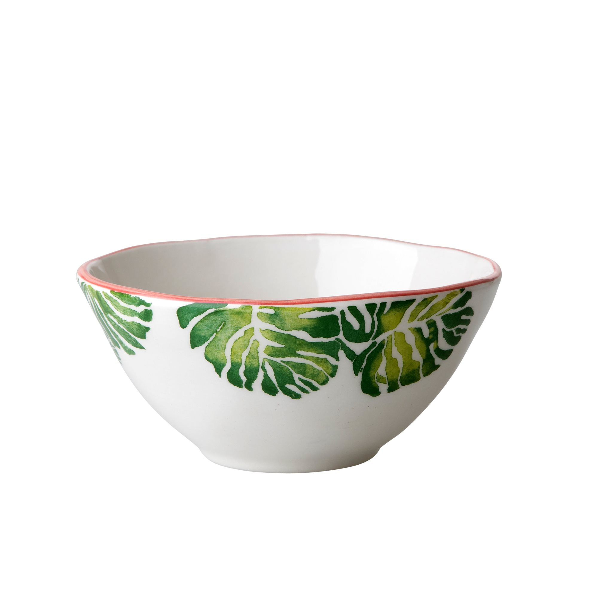 Rice Tropical Leaf print ceramic bowl