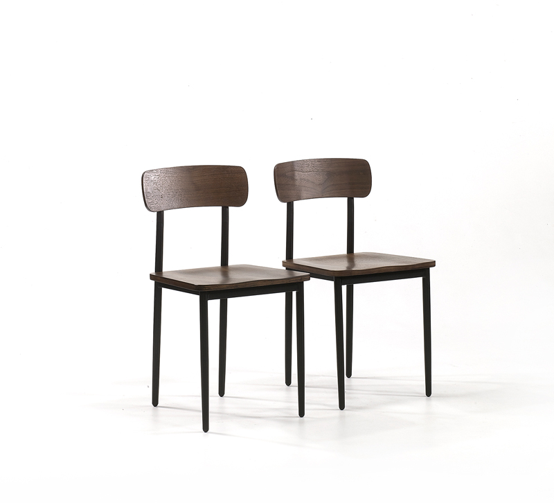 Henry Park dining chairs in a dark finish from Sauder