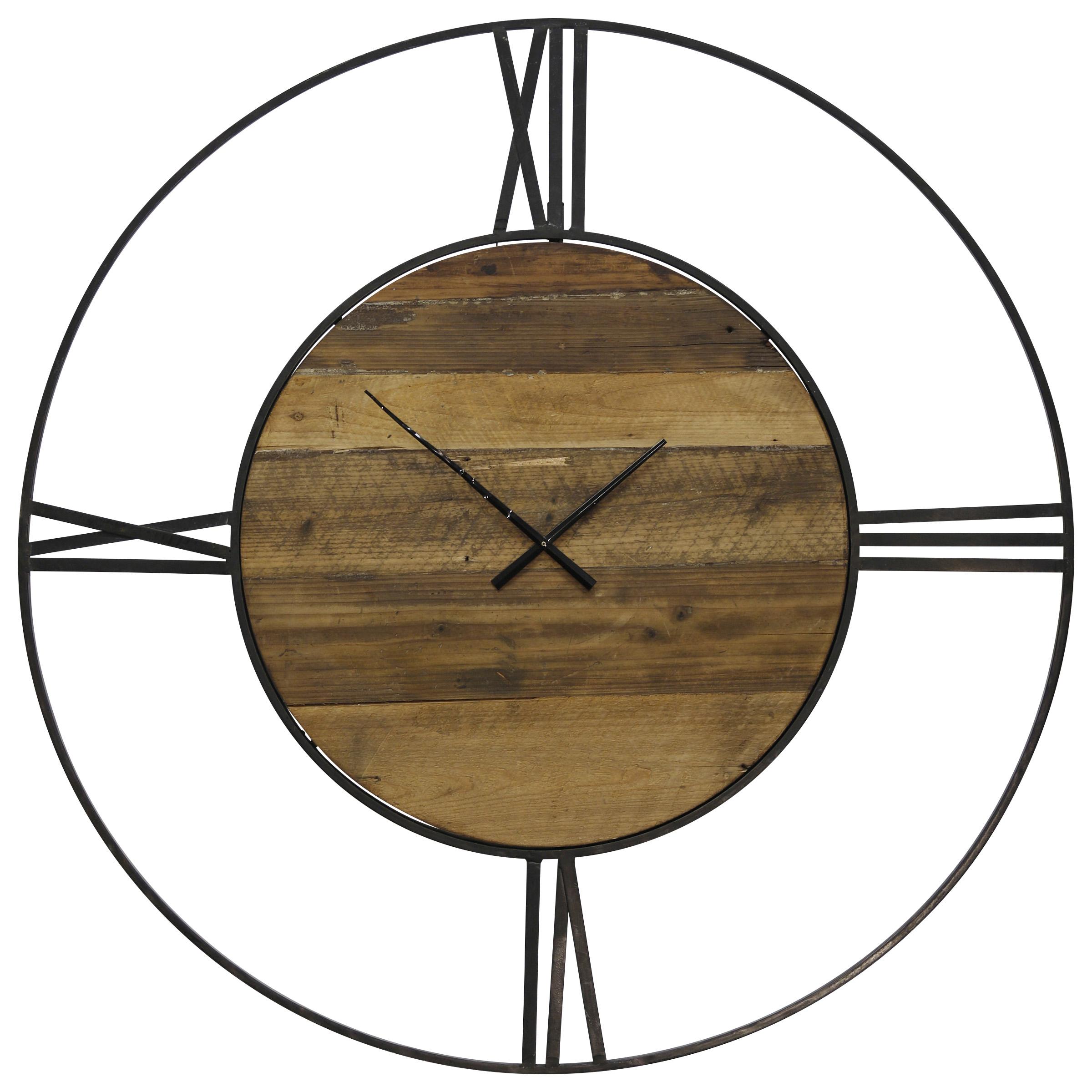 StyleCraft Metal & Wood wall clock