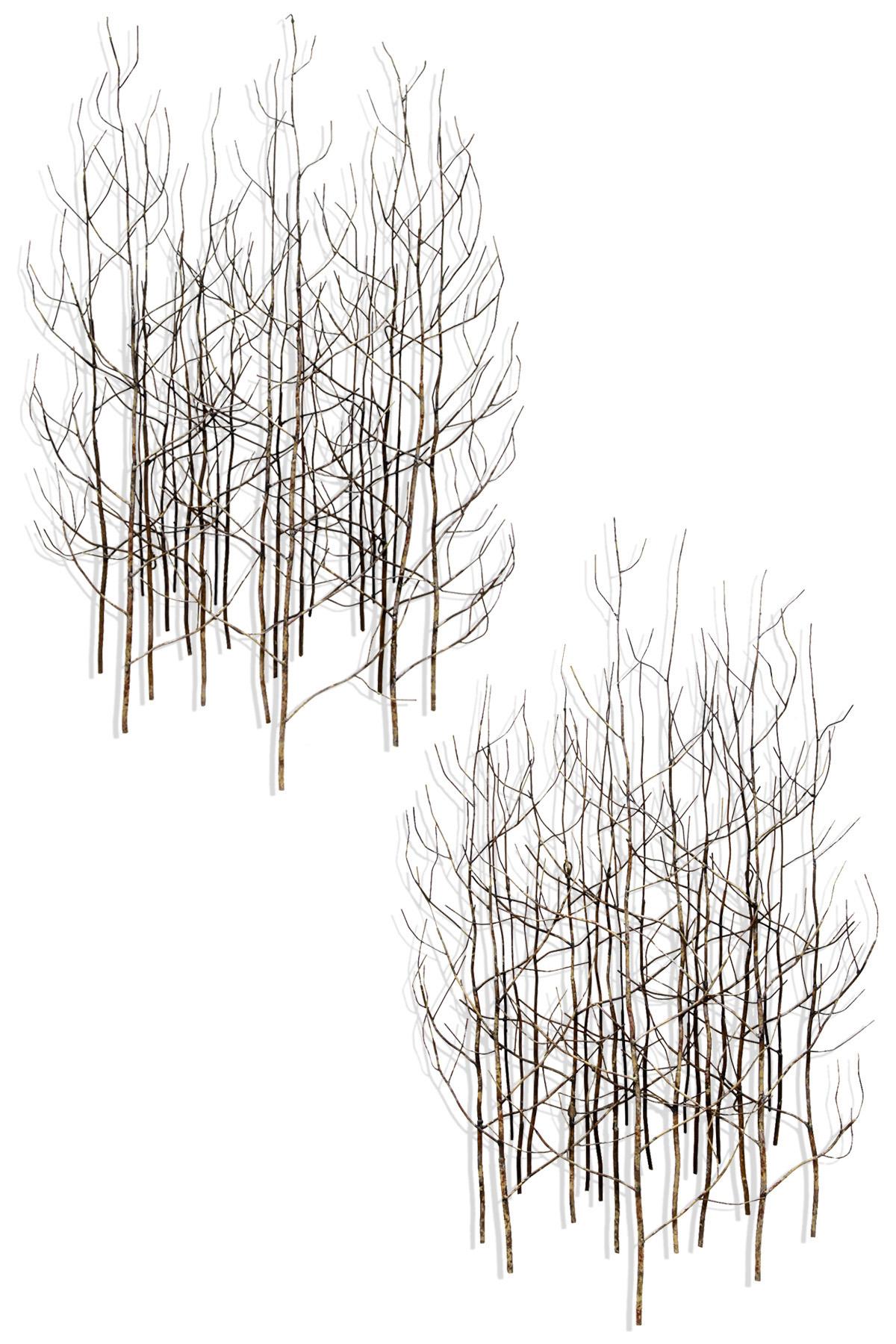 Stylecraft metal tree branch wall sculpture