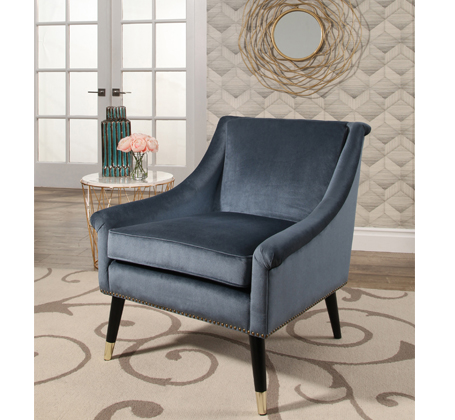 moody blue Abbyson velvet chair
