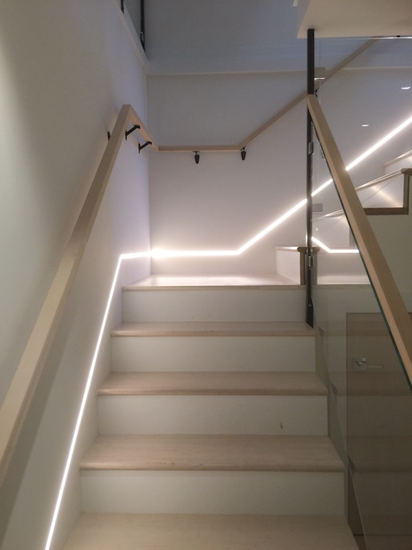 stairwell lighting recessed staircase