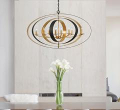 Crystorama's eight-light Luna chandelier