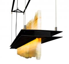 Stone Float chandelier from Santangelo Lighting